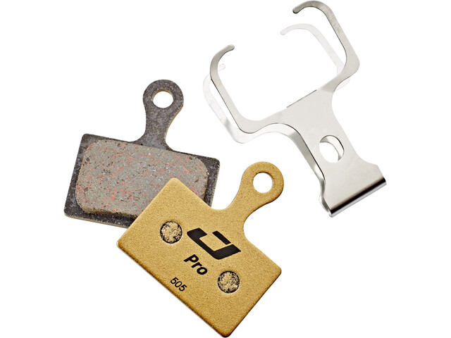Jagwire Pro Semi-Metallic Disc Brake Pads for Shimano Metrea|Rever Flatmount MCX2 MC 1 Pair, gold